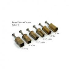 Набор форм металлических, фигурных, с поршнем, для выдавливания глины (6 шт.) PCS-6