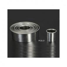 Набор форм металлических (овал) для выдавливания глины (6 шт.) PCS-21