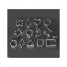 Набор форм металлических (фигурные в ассортименте) для выдавливания глины 13 шт.) PCS-25