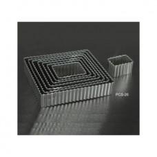 Набор форм металлических (прямоугольник рифленый) для выдавливания глины (8 шт.) PCS-26