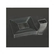 Набор форм металлических (прямоугольник) для выдавливания глины (8 шт.) PCS-27