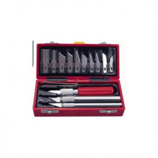 Набор ножей для макетирования 3 шт. в компл. с 13 смен. лезвиями, щипцы DK35005