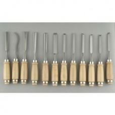 Набор резцов с деревянной ручкой, 12 шт C50-D23