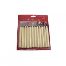 Набор резцов с деревянной ручкой, 12 шт SFT046