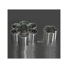 Набор форм металлических (цветок) для выдавливания глины (6 шт.) PCS-17
