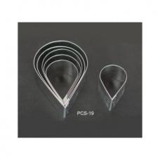 Набор форм металлических (капелька) для выдавливания глины (6 шт.) PCS-19