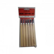 Набор резцов с деревянной ручкой, 3 шт SFT043
