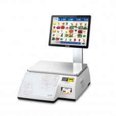 Весы торговые CAS CL7000-30S с печатью этикеток