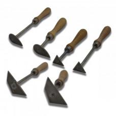 Набор клюшек для работы с гипсом, дерев. ручка, 6шт/наб, CGС-62