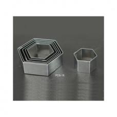 Набор форм металлических (шестигранник) для выдавливания глины (6 шт.) PCS-18