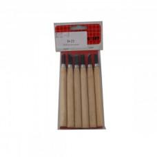 Набор резцов с деревянной ручкой, 6 шт C50-D22