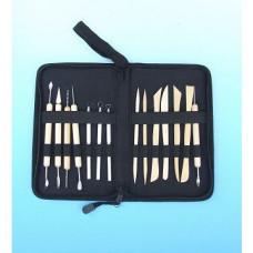 Набор для моделирования, 14 шт.(стеки-петля, стеки скульпт, ножи-лопатки, шило) в чехле